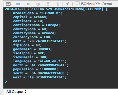 JSON and XML Demo - Country Info