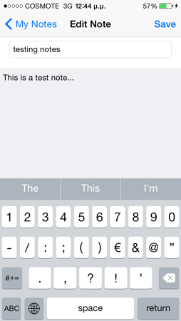 touch id create note sample