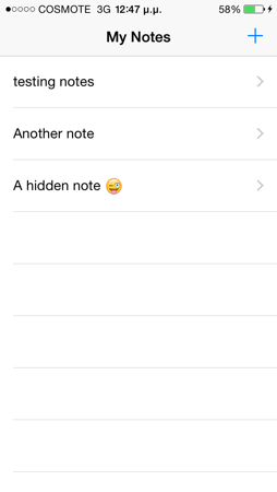 touch id display note sample