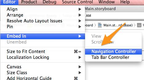 Embed Navigation Controller