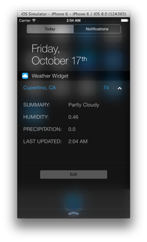 App Weather Widget with Real Data