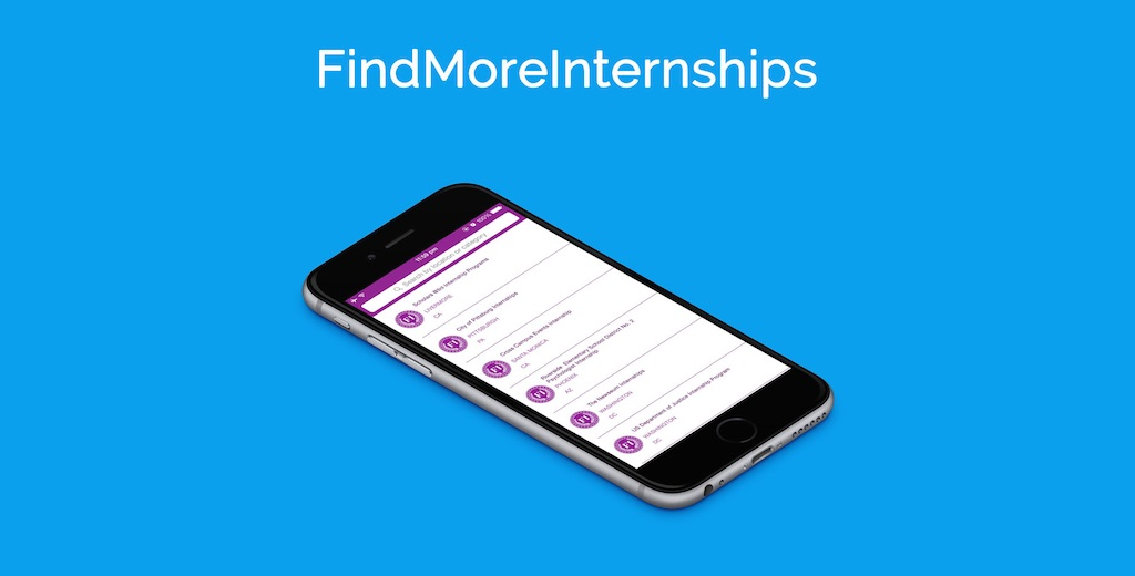 App Showcase #3: FindMoreInternships by Vin Lee
