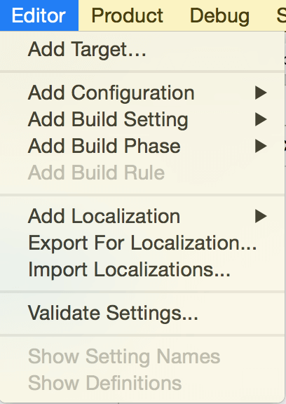 xcode-add-target