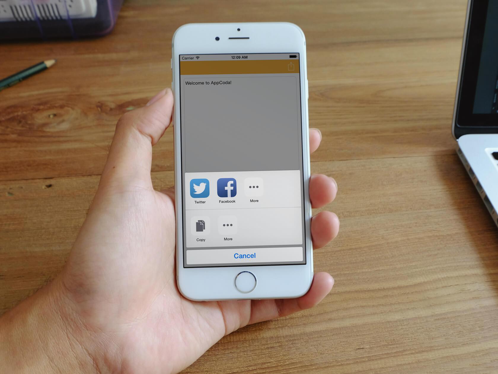 Beginner's Guide: Using Social Framework and UIActivityViewController