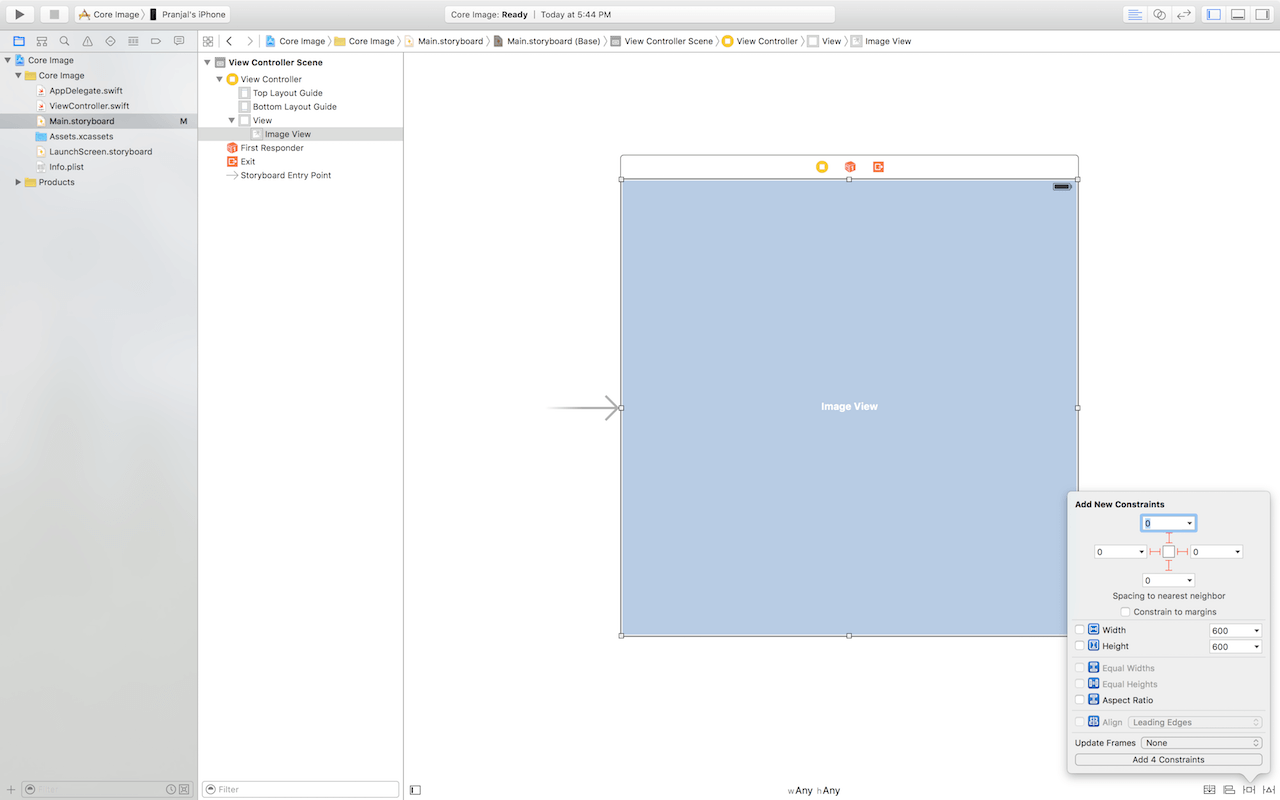 core-image-auto-layout