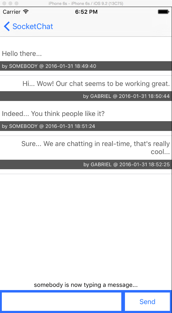 chat app sample