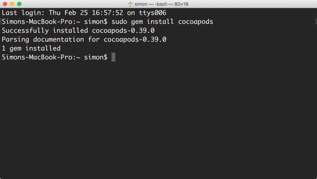cocoapods-install