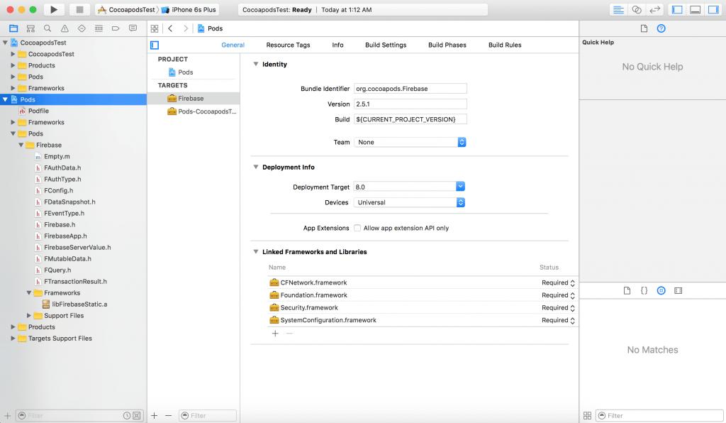 pod-xcode-workspace