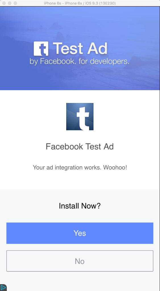 Facebook Full Screen Ads