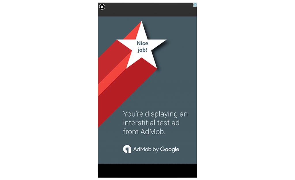Admob interstitial ad