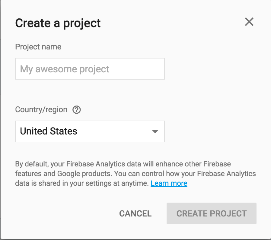 firebase-new-project