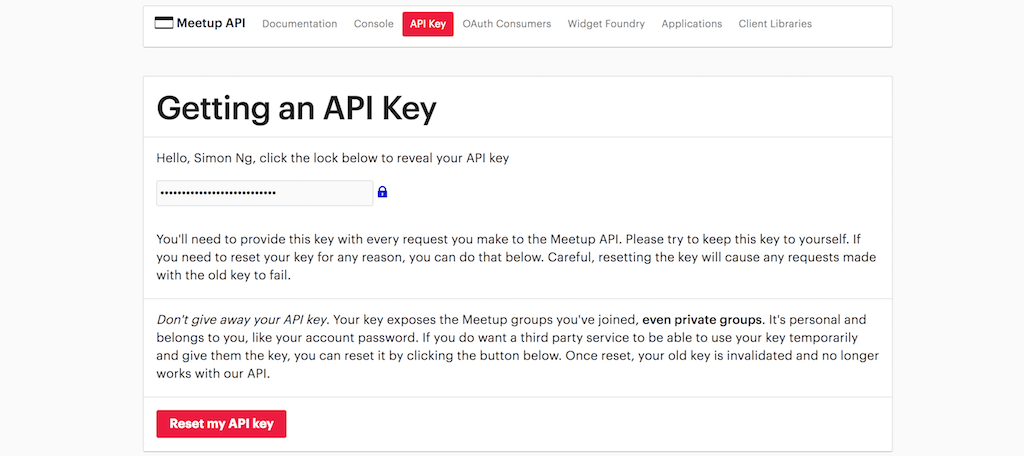 meetup-api-key