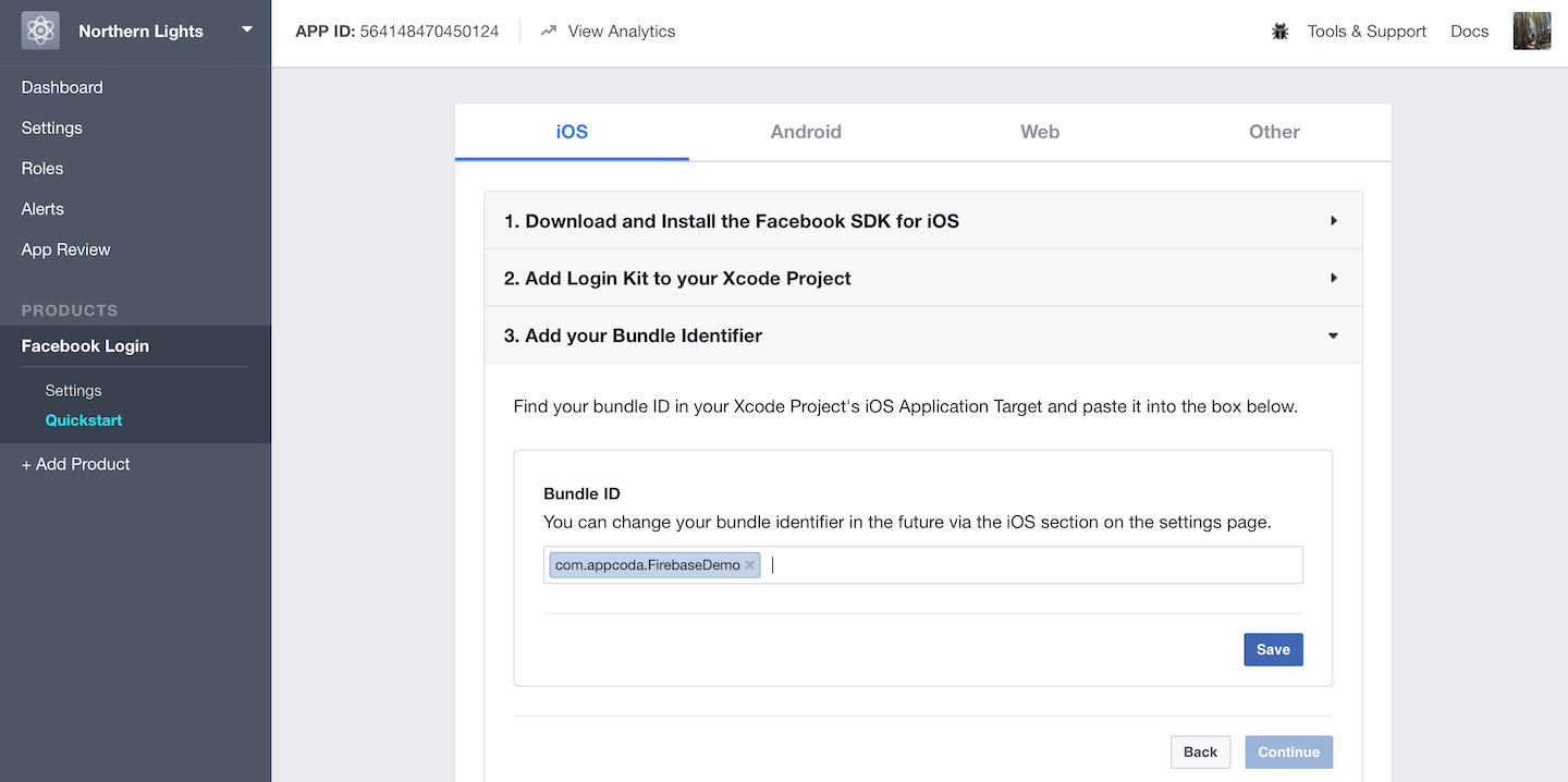 Using Firebase to Integrate Facebook Login in iOS Apps 3