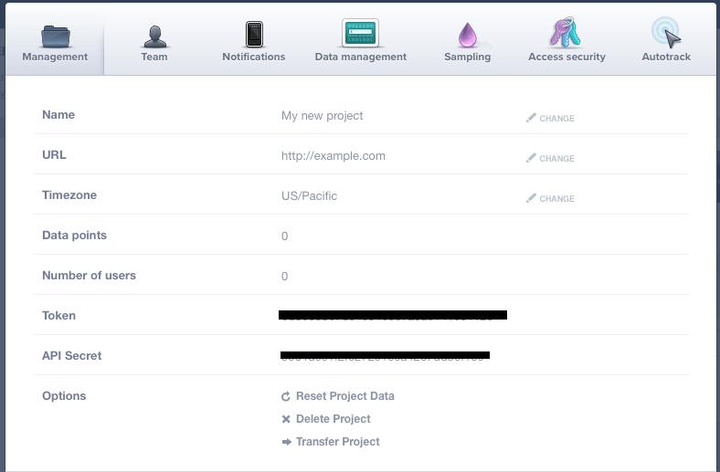 Mixpanel API Key