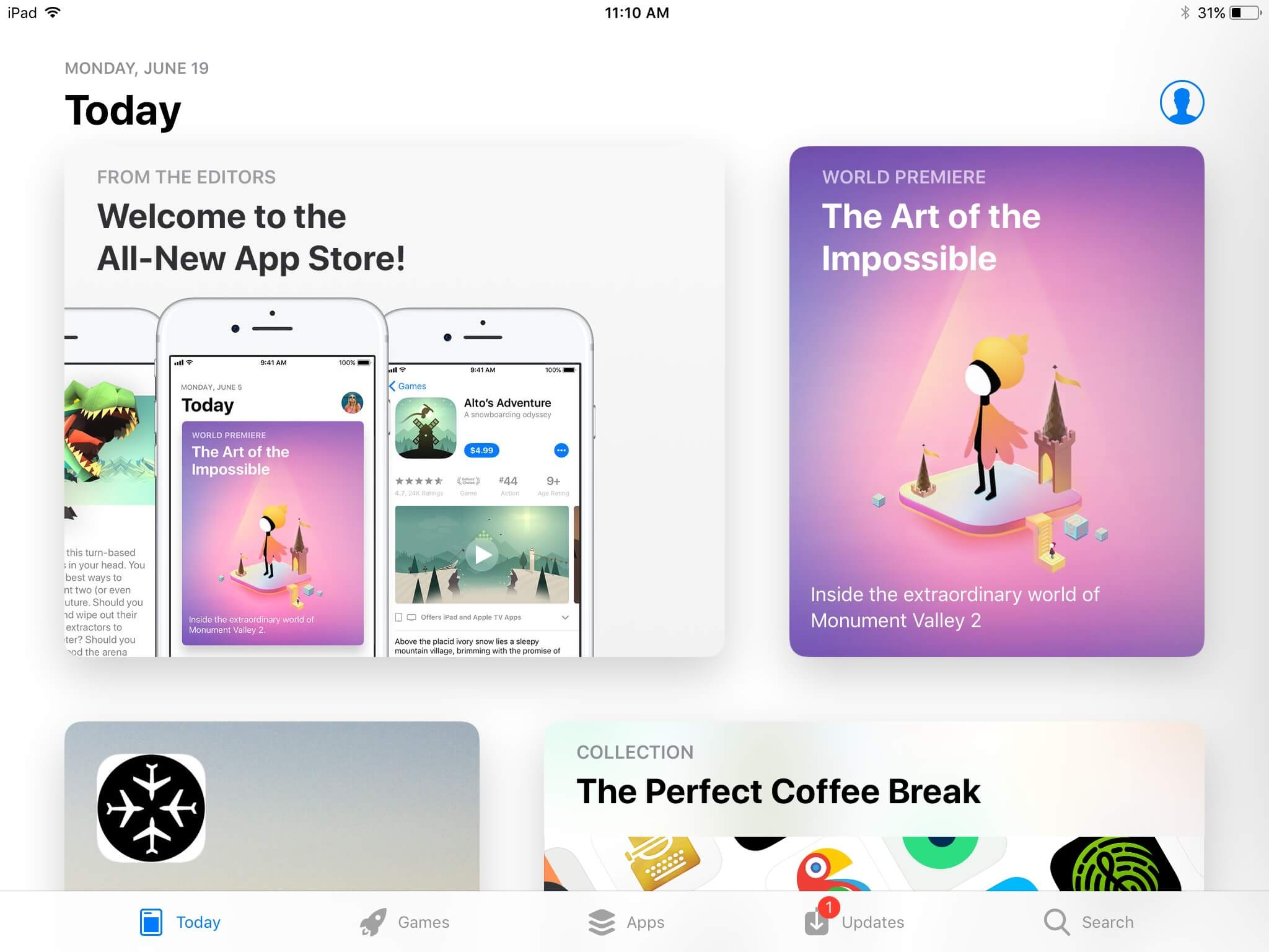 App Store iOS 11 for iPad