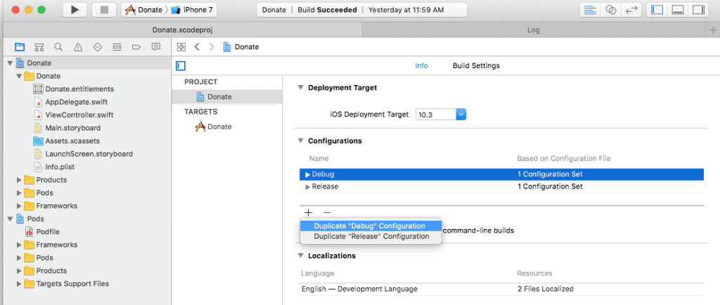 Using Xcode Configuration (.xcconfig) to Manage Different Build Settings 2