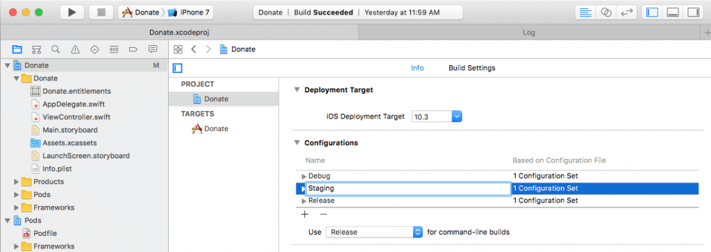 Using Xcode Configuration (.xcconfig) to Manage Different Build Settings 3