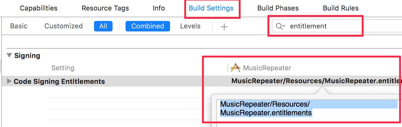 macos-build-setting