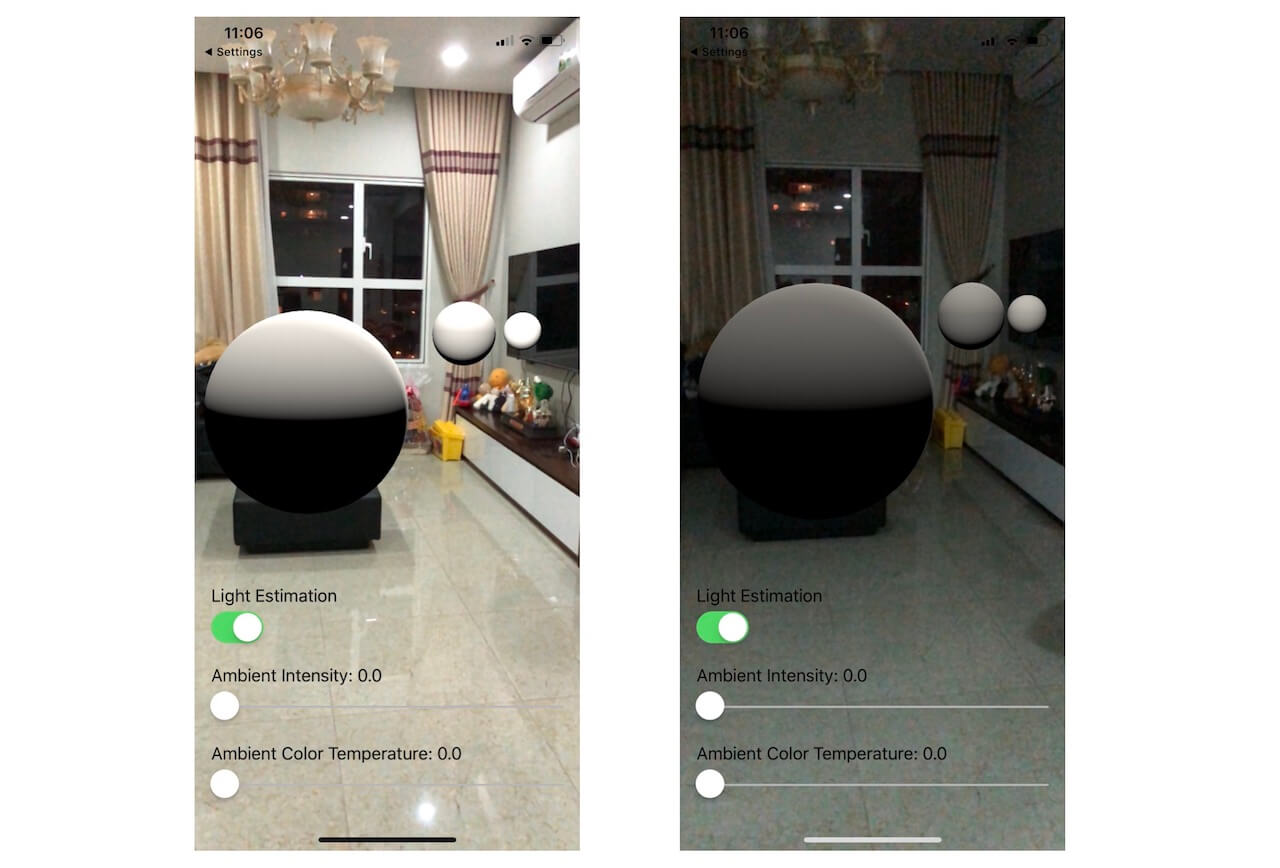 ARKit Tutorial: Light Estimation with Ambient Intensity and Color Temperature 5