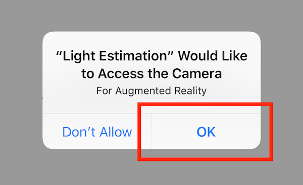 ARKit Tutorial: Light Estimation with Ambient Intensity and Color Temperature 2