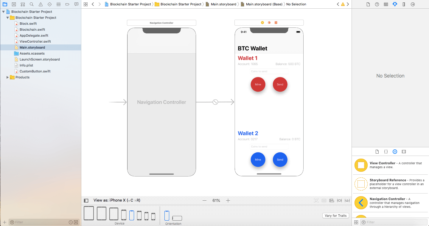 Blockchain demo storyboard