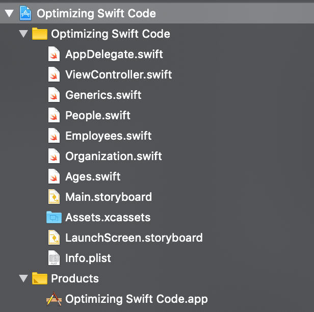 separate files-xcode-instruments