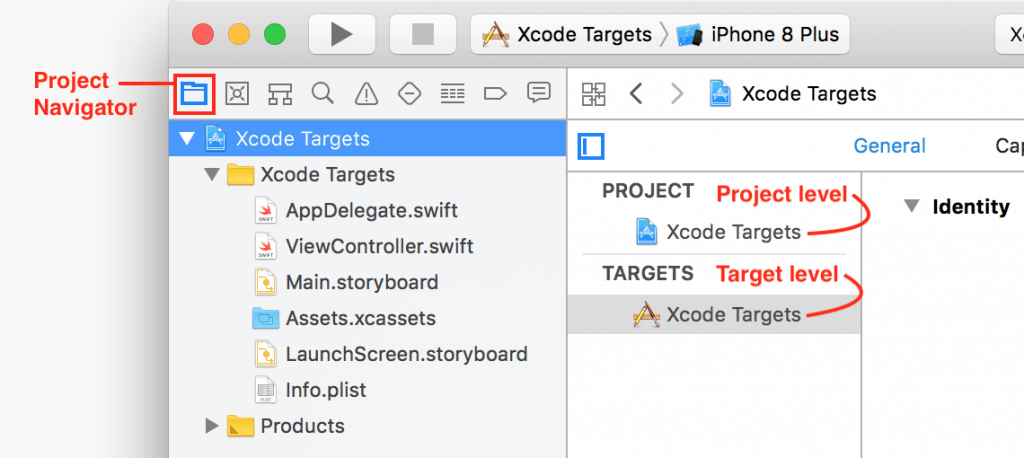 xcode targets