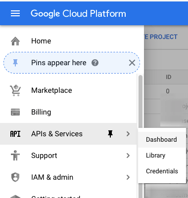 API Service Menu