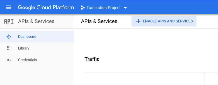 Enable Google Translation API Services