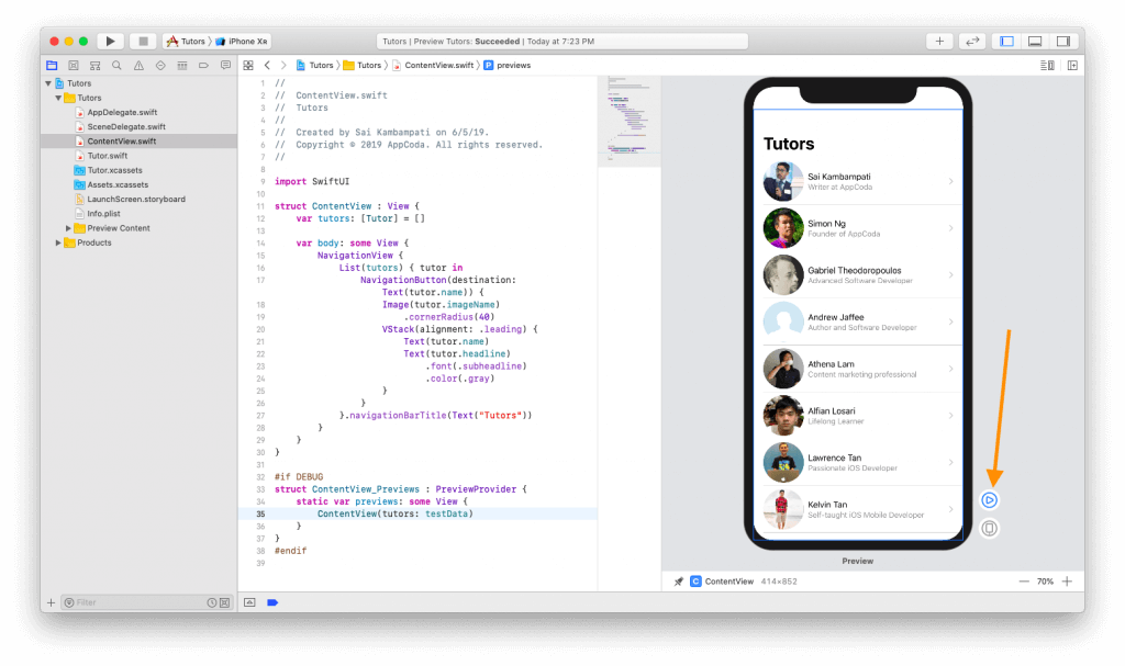 SwiftUI First Look: Building a Simple Table View App 15