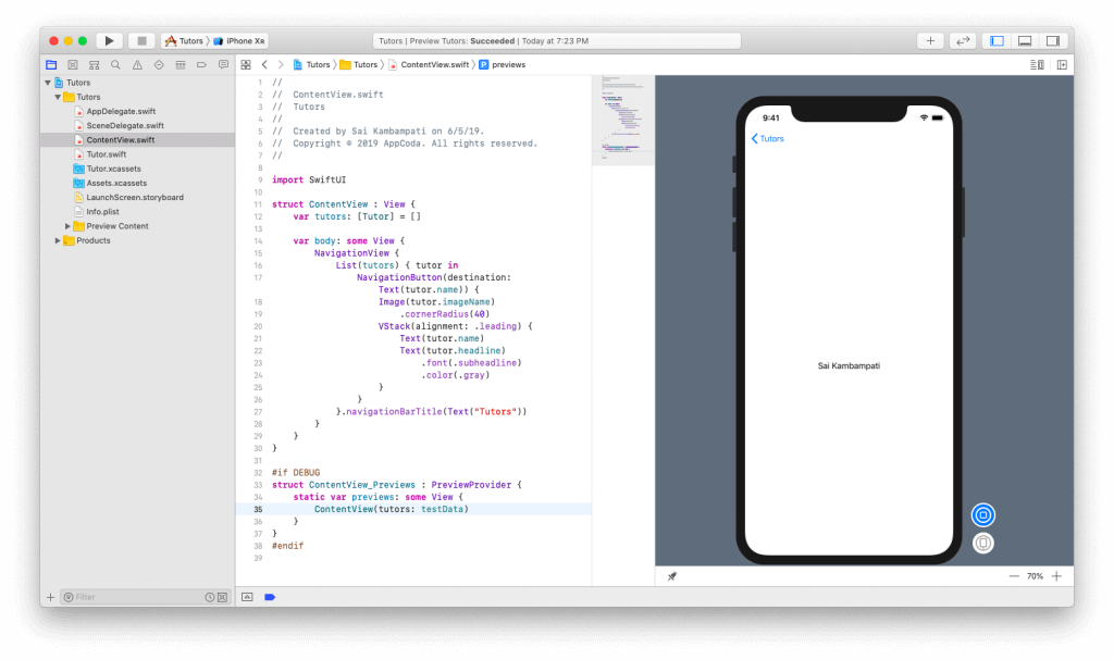 SwiftUI First Look: Building a Simple Table View App 16