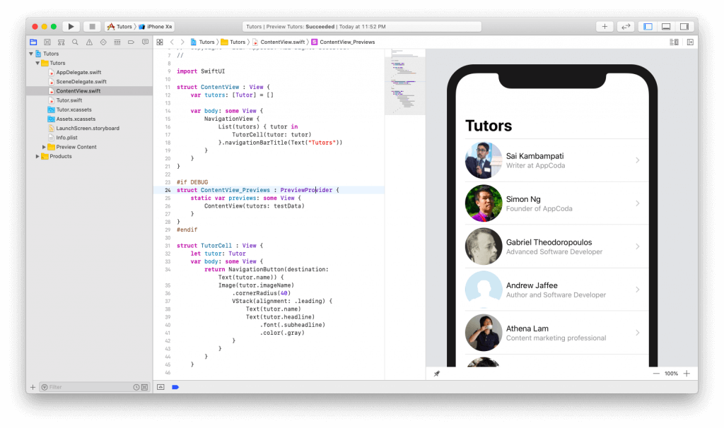 SwiftUI First Look: Building a Simple Table View App 17