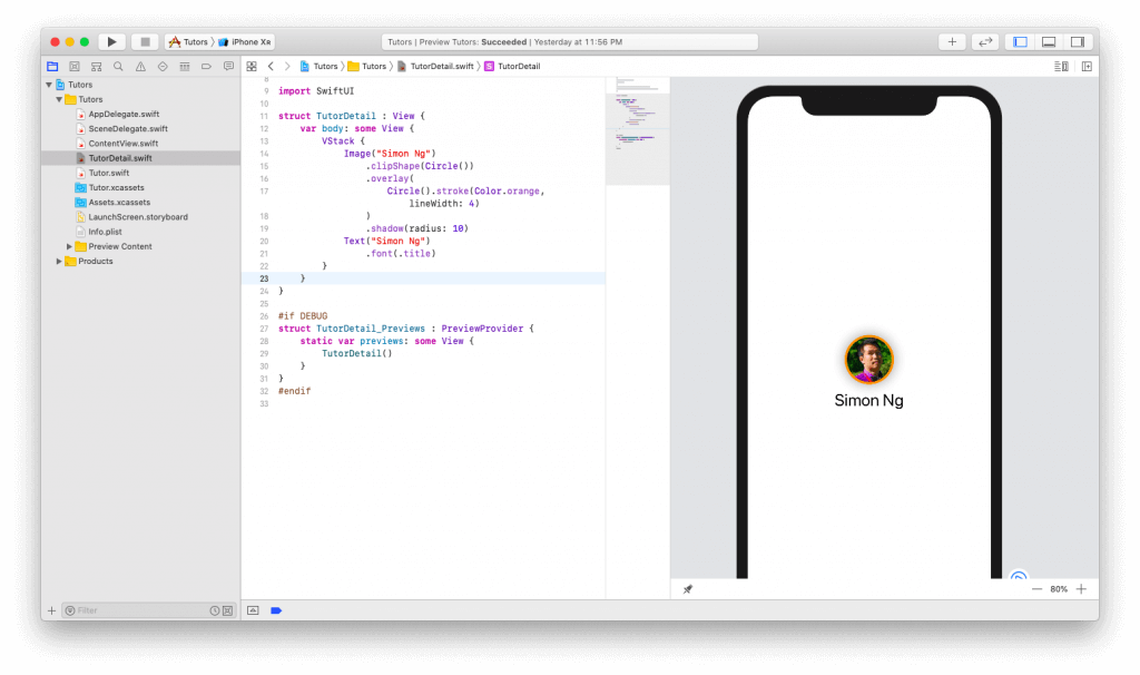 SwiftUI First Look: Building a Simple Table View App 19