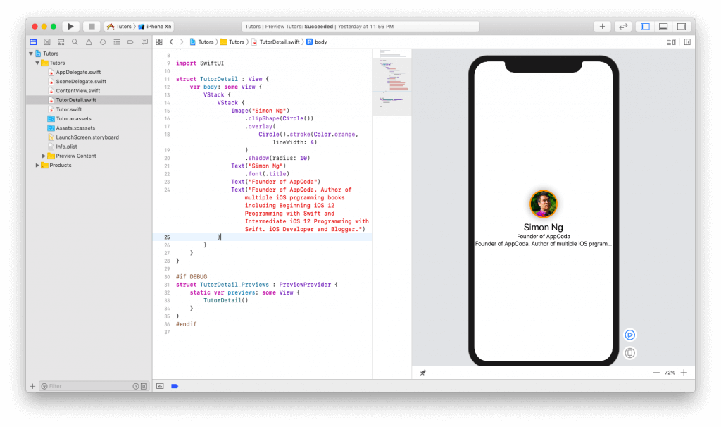 SwiftUI First Look: Building a Simple Table View App 20