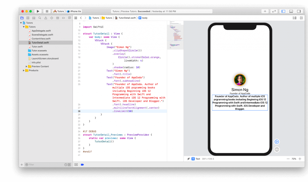 SwiftUI First Look: Building a Simple Table View App 21