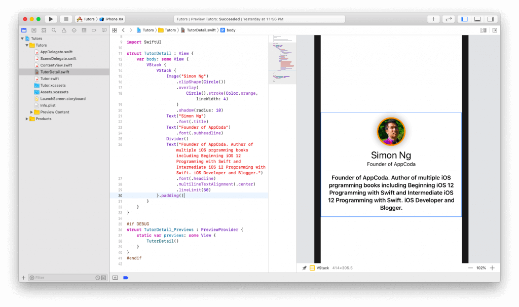 SwiftUI First Look: Building a Simple Table View App 22