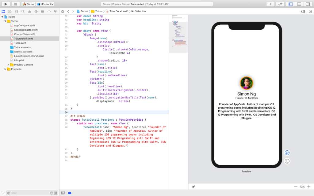 SwiftUI First Look: Building a Simple Table View App 23
