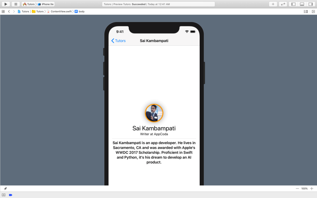 SwiftUI First Look: Building a Simple Table View App 26
