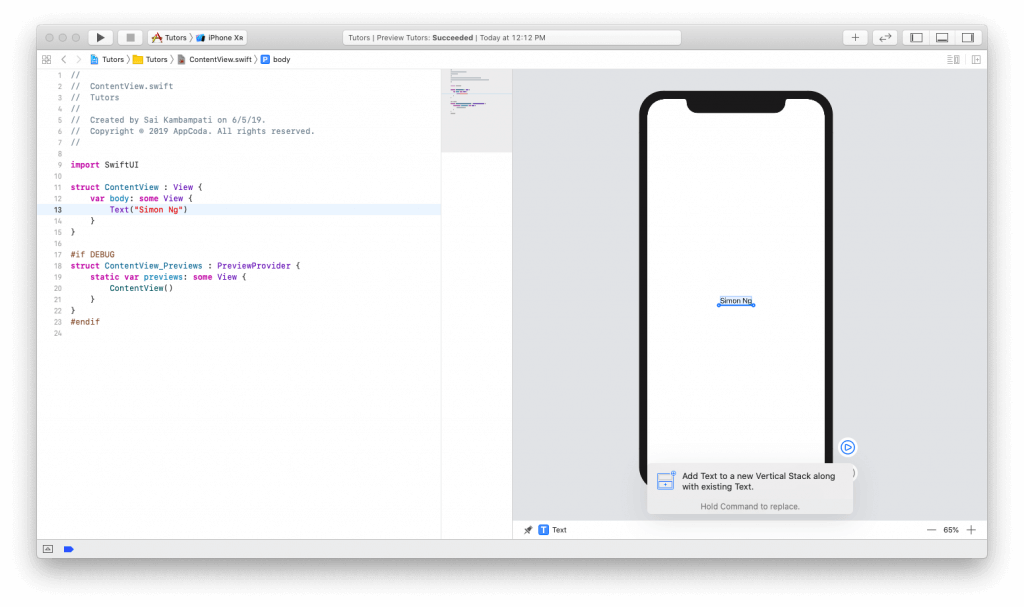 SwiftUI First Look: Building a Simple Table View App 4