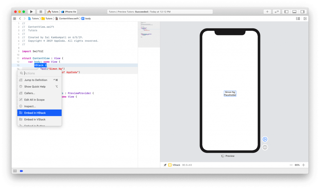 SwiftUI First Look: Building a Simple Table View App 5