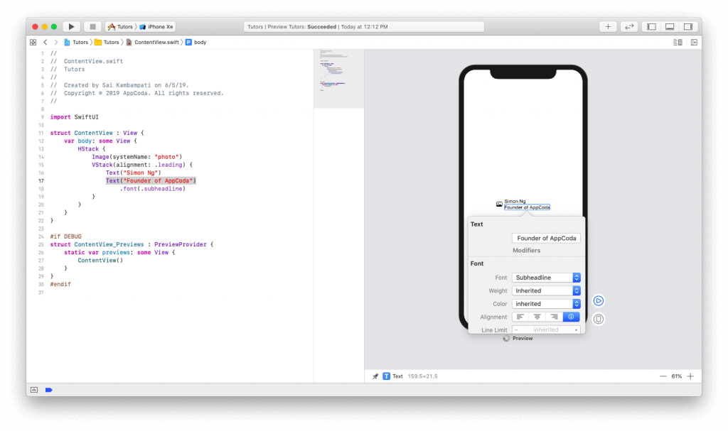 SwiftUI First Look: Building a Simple Table View App 8