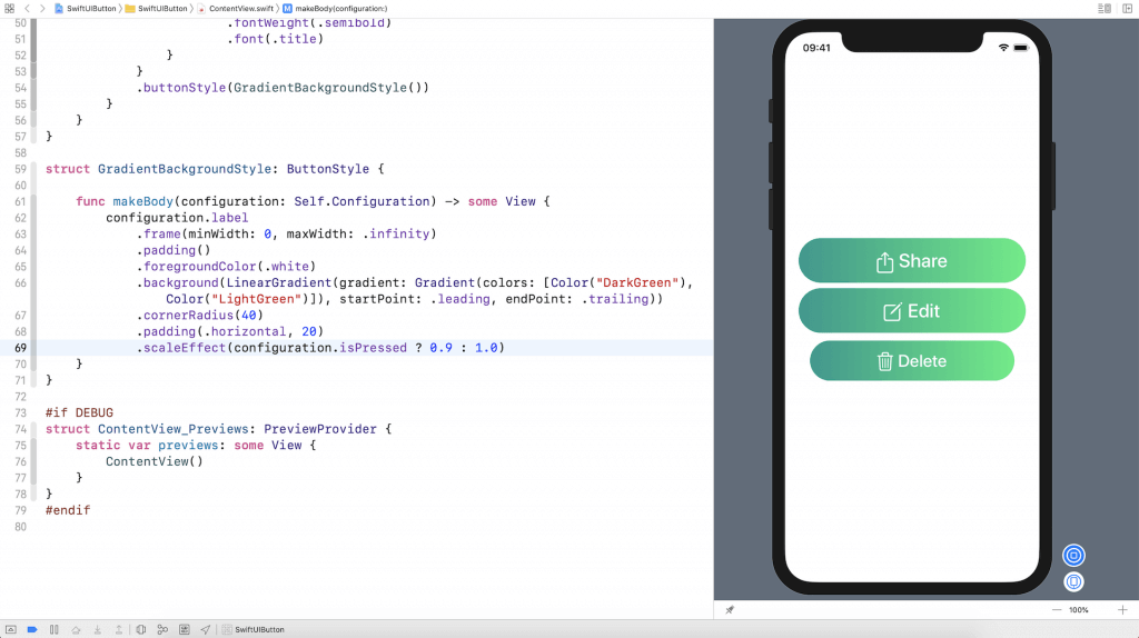 SwiftUI Tip: ButtonStyle and Animated Buttons 1