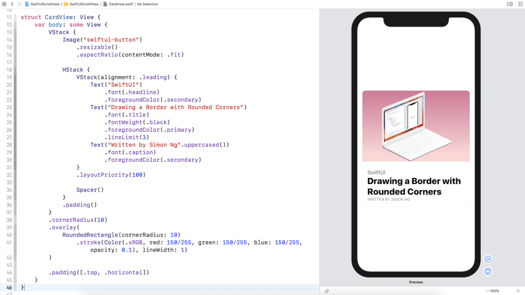 SwiftUI Tip: How to Create a Card View with Stacks 7