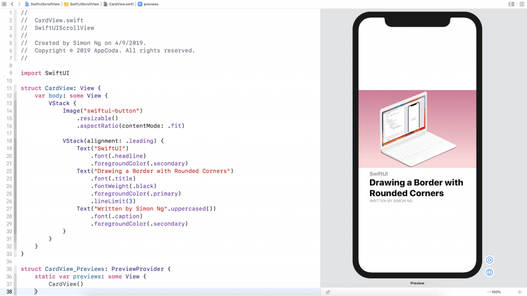 SwiftUI Tip: How to Create a Card View with Stacks 4