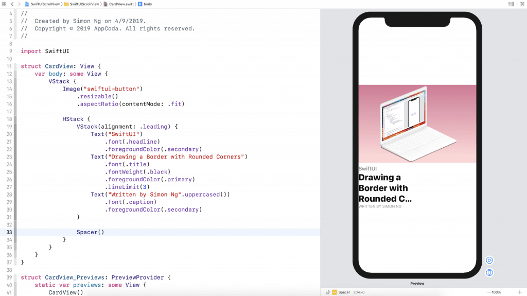 SwiftUI Tip: How to Create a Card View with Stacks 5