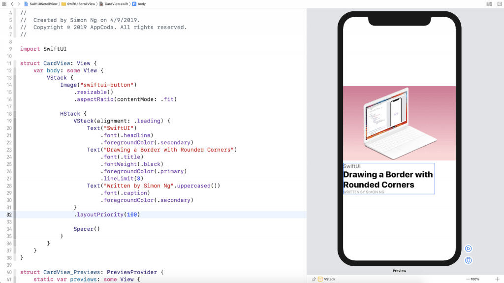 SwiftUI Tip: How to Create a Card View with Stacks 6