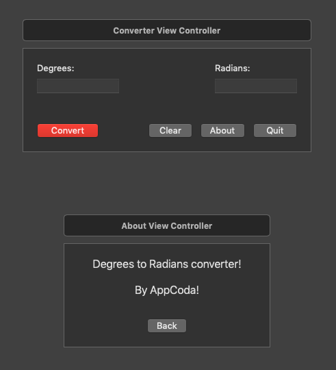 Converter view controller in storyboard