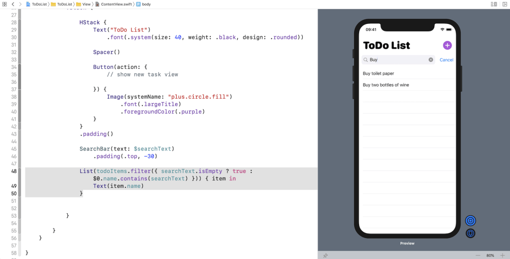 swiftui-search-bar-typing