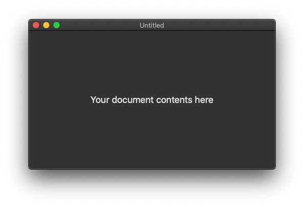 Your first document based app on macOS