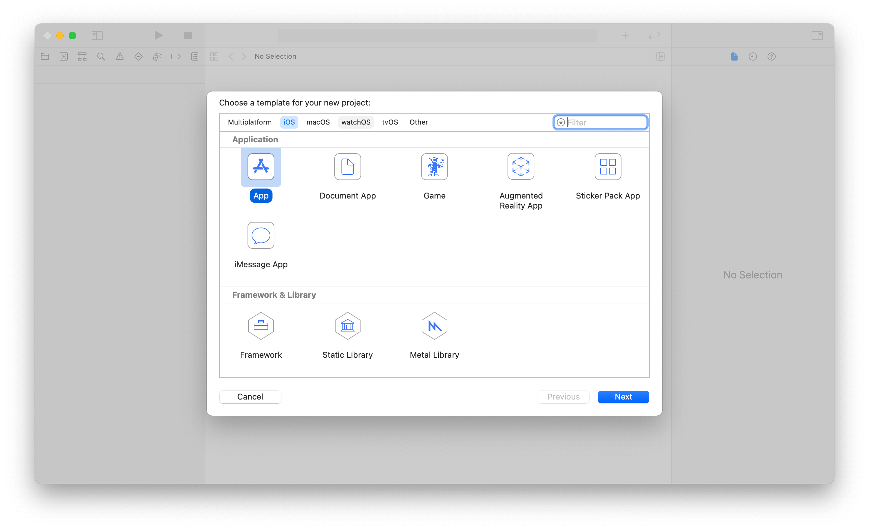 Xcode 12 New Project Template
